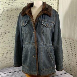 Marvin Richards, fur-lined jean jacket, XL, vtg
